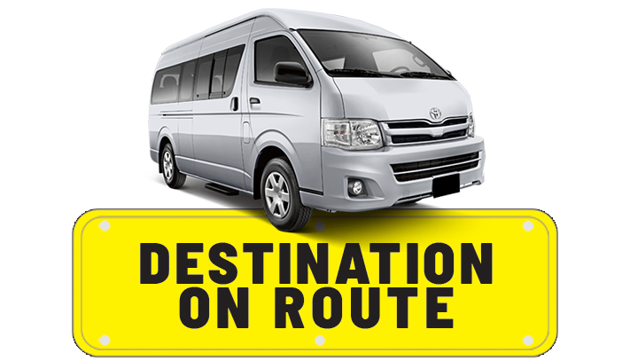Destination on Route Contact us